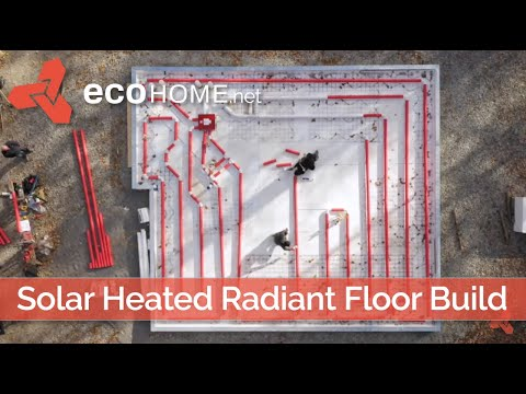 Solar-Heated Radiant Concrete Floor Slab Kit Build Legalett: Slab on Grade Super-Insulated ICF Forms