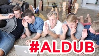 #ALDUB - AMERICANS KILIG for #ALDUB - Hey Joe Show