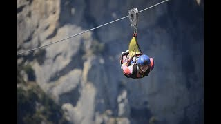 Flight of the Angel (Volo dell'angelo) - highest zipwire in Italy! POV
