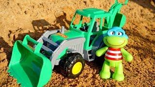 Мультики для малышей — Развивающие игры для маленьких — Лягушонок и экскаватор