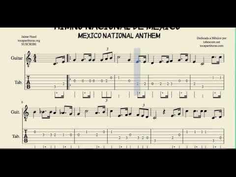 Guitar national anthem guitar tabs : Mexico National Anthem Tab Sheet Music for Guitar Tabs - YouTube
