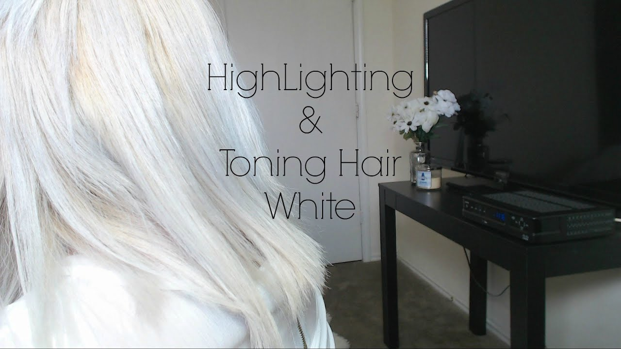 Highlighting and toning hair white at home youtube pmusecretfo Images