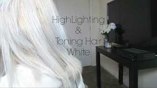 Highlighting and Toning Hair White at Home