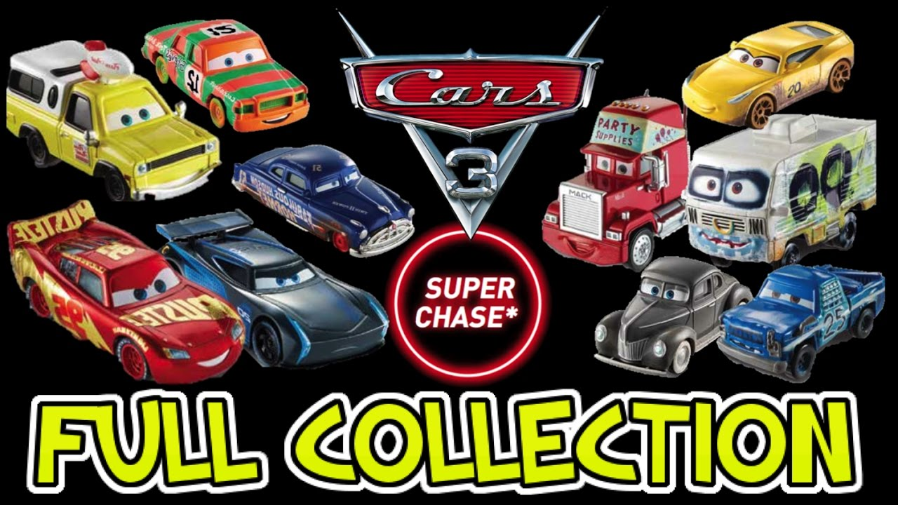 Cars 3 Full Collection Of Mattel Diecast Toys Wave 1 2017