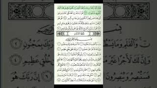 Mulk surasi: 3-sahifa Qur'on tilovati