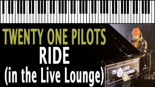 Tyler from Twenty One Pilots - Ride (in the Live Lounge) KARAOKE (Piano Instrumental)