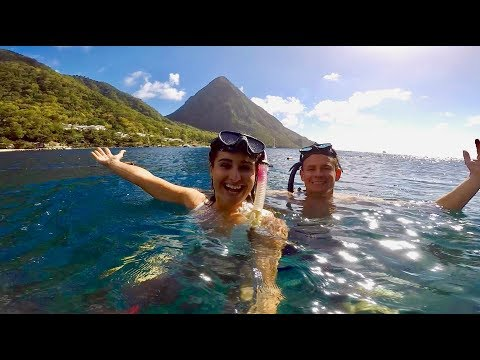Snorkeling and Hiking Next to Volcanic Mountains! St Lucia