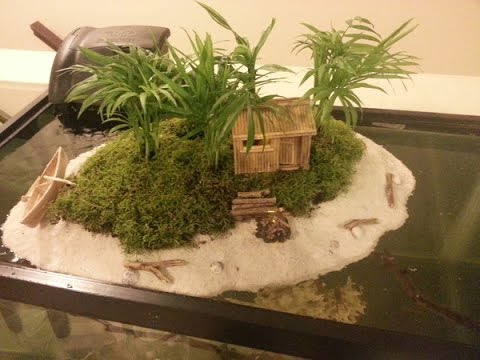 Aquarium Island (with campfire and smoke) for Turtles ...