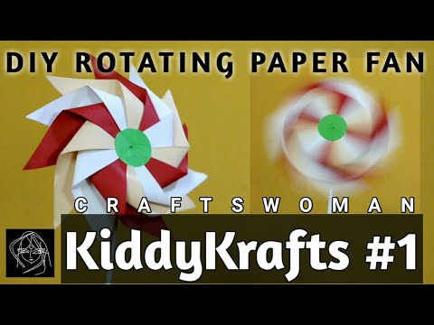 Paper Pinwheel DIY | #KiddyKrafts | CRAFTSWOMAN