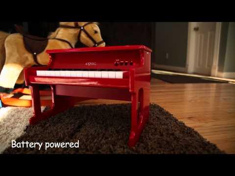 日本 KORG tinyPIANO 迷你電鋼琴 25鍵 專業兒童鋼琴 幼兒鋼琴 玩具 音準 黑色【米格斯日貨mixy】