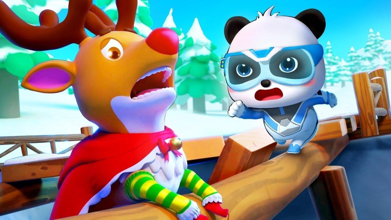 ช่วยเหลือคุณกวางเรนเดียร์ | ส่งของในวันคริสต์มาส | การ์ตูนเด็ก | เบบี้บัส | Kids Cartoon | BabyBus