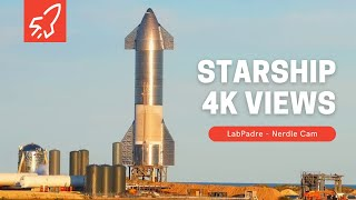 Nerdle Cam 4K-  SpaceX SN10 At Boca Chica Starship Launch Facility