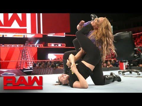 Ronda Rousey traps Nia Jax in an armbar: Raw, June 11, 2018
