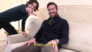 Timothée Chalamet photobombs Armie Hammer's interview - L'OFFICIEL