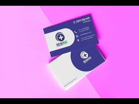 Doctor's Business Card Design in CorelDraw X7 by Graphic design 4u