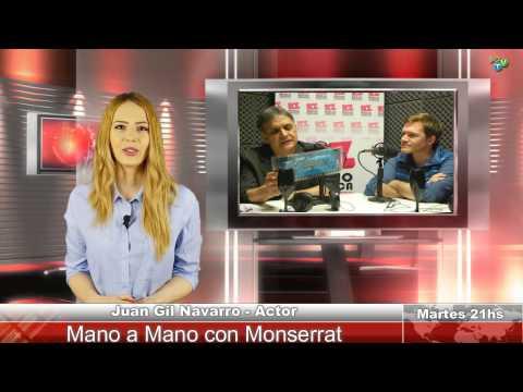 En Mano a Mano con Monserrat el actor y cantante Juan Gil Navarro