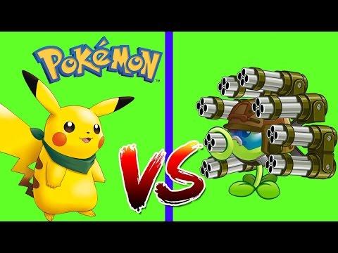 Pokémon vs. Plants vs. Zombies NEW! Растения против Зомби 2   веселая игра для детей