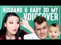 MY HUSBAND & BABY DO MY VOICEOVER || Jen Chae