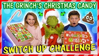GRINCH'S CHRISTMAS CANDY SWITCH UP CHALLENGE   We Are The Davises