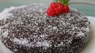 Receta De Pastel De Coco Con Chocolate / Recipe Chocolate Cake With Coconut