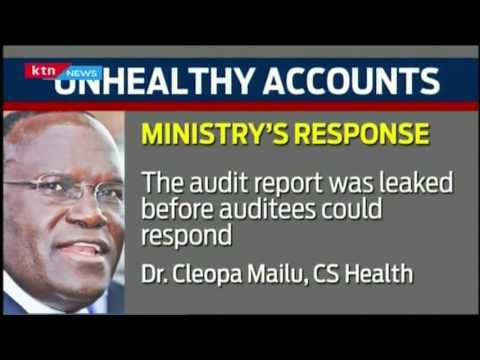KTN Prime: The Unhealthy Health Ministry audit report reveals the biggest scandal, 26/10/16