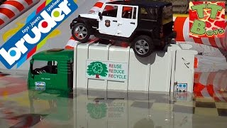 Молния Маквин Бассейн с машинками БРУДЕР Гонки в воде Игры для детей CARS Mcqueen Pool & Bruder Toy