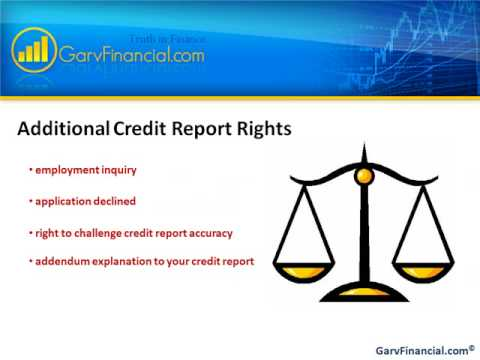 Know your Consumer Rights  Improve your Credit Rating, Credit Score, or Credit Report