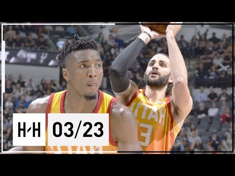 Donovan Mitchell & Ricky Rubio Full Highlights Jazz vs Spurs (2018.03.23) - 55 Pts Combined!