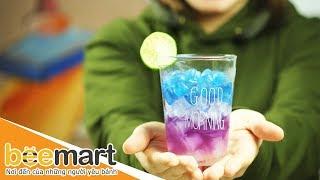 Cách pha nước chanh ngon, đổi màu GALAXY (Galaxy Lemonade) - BEEMART
