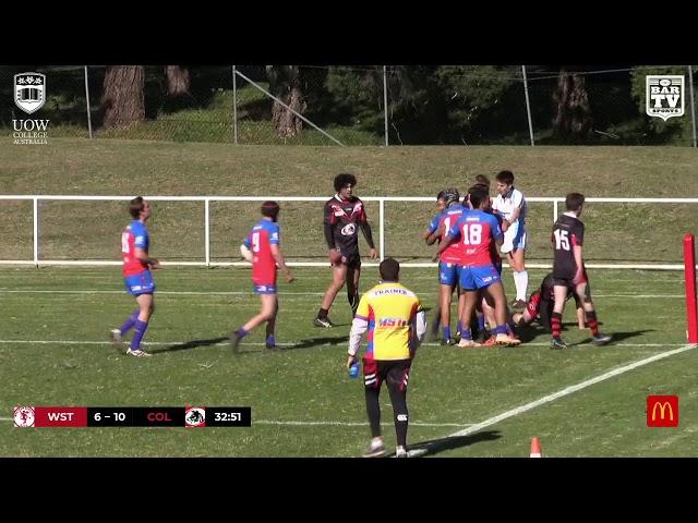 2019 IDRl Under 18s Round 11 Highlights - Western Suburbs vs Collegians