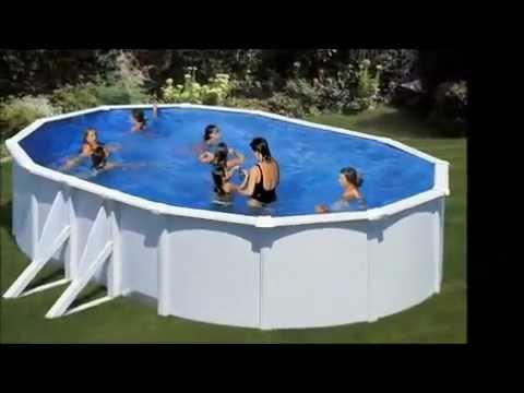 Piscine hors sol piscineo start ovale avec filtration sable gre fidji youtube - Pompe piscine intex saint etienne ...