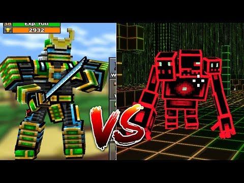 PIXEL GUN 3D - ROBOT SAMURAI VS EVIL BUG