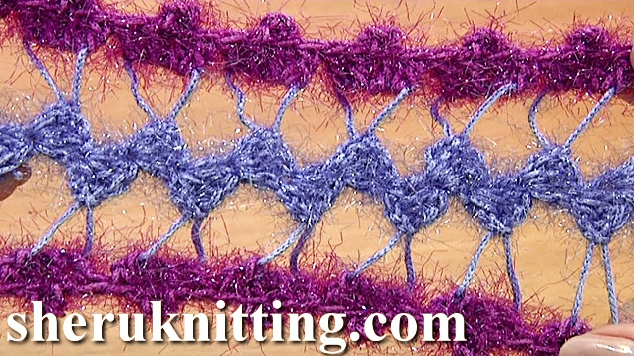 Developing basic strip with additional crochet tutorial 31 hairpin developing basic strip with additional crochet tutorial 31 hairpin lace crochet youtube bankloansurffo Image collections