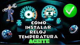 Instalación reloj temperatura de aceite. Mitsubishi Eclipse 2G 4G63. DSM.