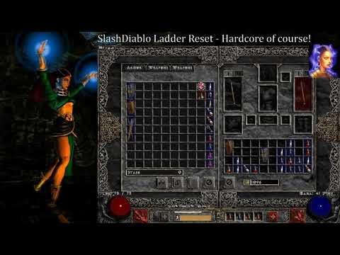 Slash Diablo Reset - Hardcore Sorceress - Twitch Live Stream
