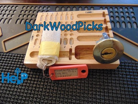 "[80] DarkWoodPicks Challenge Lock ""Clockwise"" Picked and Gutted"