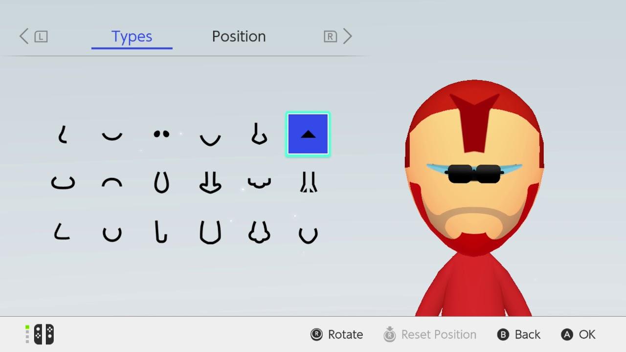 Mii Maker Iron Man From Marvel Nintendo Switch Free Tutorial