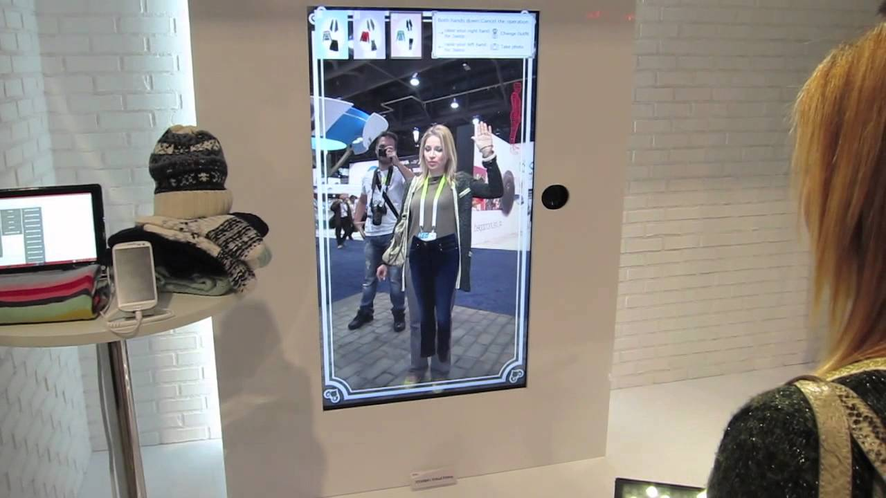 Toshiba Virtual Fitting Room Ces 2015 Youtube