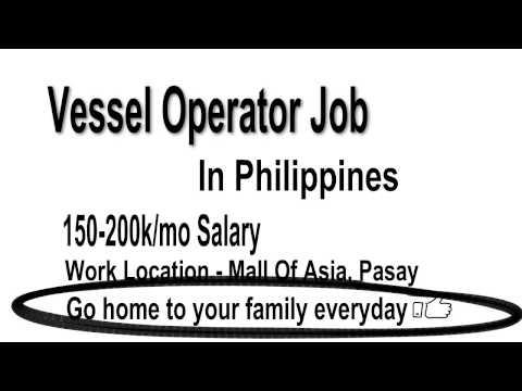 Vessel Operator Jobs In Philippines