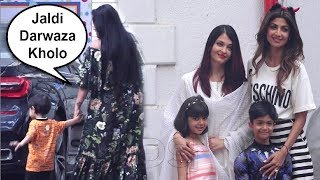 Salman Khan Sister Arpita Khan Ignores Aishwarya Rai At Shilpa Shetty Son Viaan Birthday Party 2018
