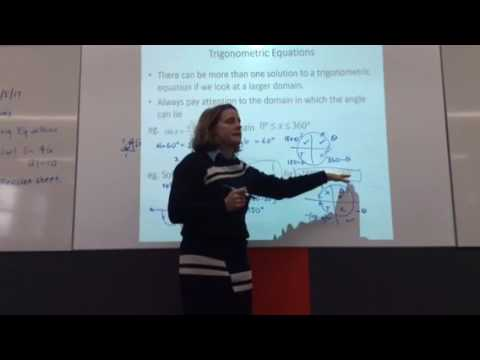 Year 11 Extension 1 Trigonometry Solving trig equations part 1 - YouTube