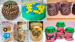 11 ideas crafts from glass and plastic jars. DIY decor