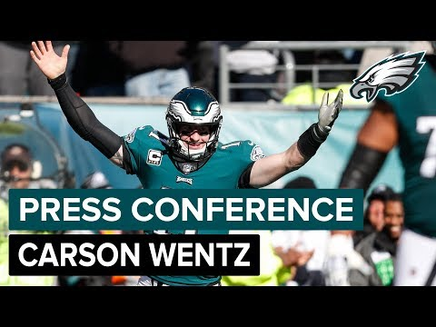 QB Carson Wentz Expects A Lot Of Energy From Eagles Fans In London | Eagles Press Conference