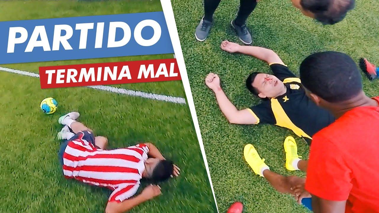 🇦🇷 PARTIDO de FUTBOL CONTRA COLOMBIANOS 🇨🇴 TERMINA MAL 🤕 Vista del futbolista (POV)