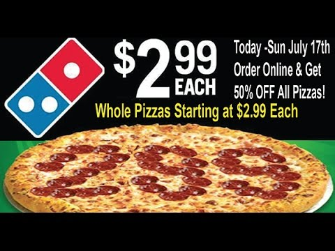 Dominos Pizza 50 Off Deal Pizzas Starting At The Low Price Of