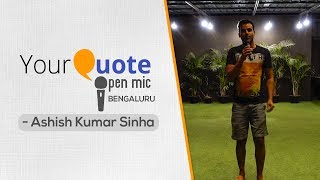 'Kitna Khayal Rakkha Hai' by Ashish Kumar Sinha | Hindi Shayari | YQ - Bengaluru (Open Mic 1)