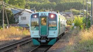 徳島線1500形 阿波川島駅到着 JR Shikoku Tokushima Line 1500 series DMU