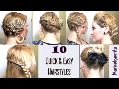 10 peinados f ciles y r pidos para cada dia 10 quick and - Platos rapidos y sencillos ...
