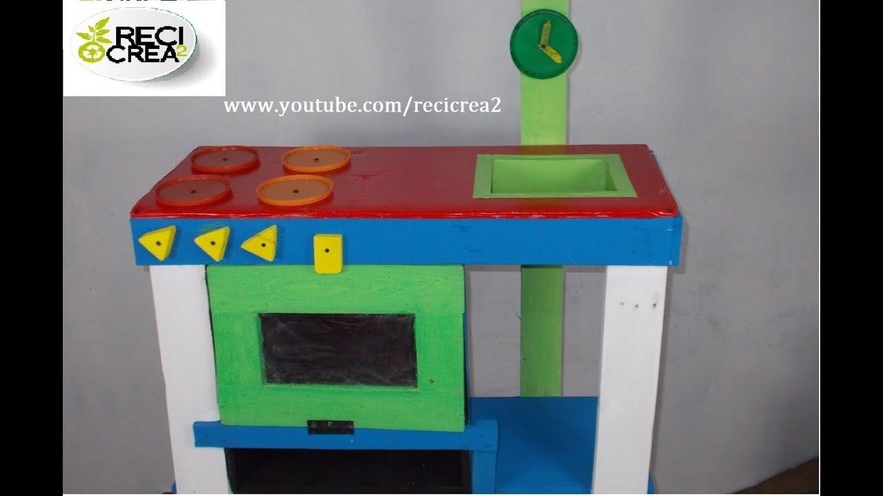 Como hacer una estufa de juguete youtube - Hacer cocinita de juguete ...