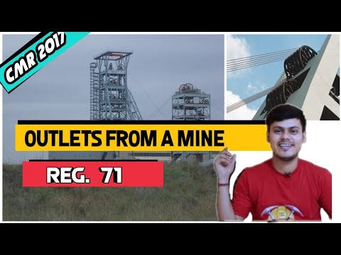 Outlets From A Mine - Regulation 71 - Coal Mines Regulation 2017